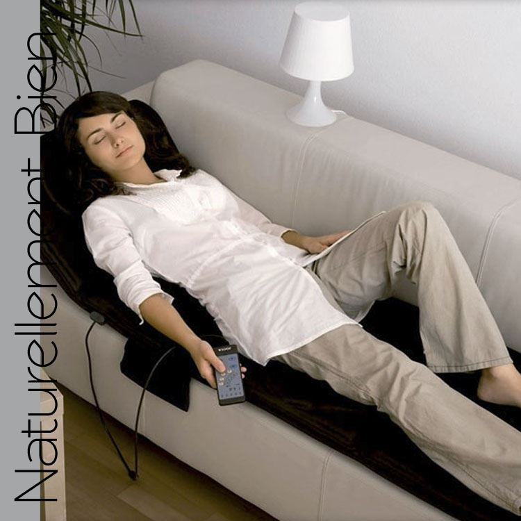 matelas de massage chauffant 10 moteurs un massage cibl. Black Bedroom Furniture Sets. Home Design Ideas