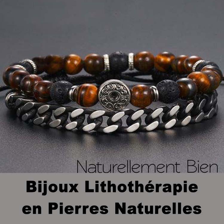 Bijoux Lithothérapie en Pierres Naturelles