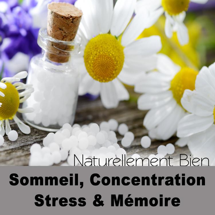 Sommeil, Stress, Concentration & Mémoire